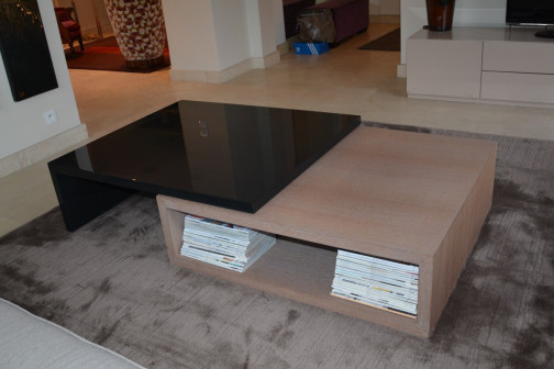 Double table basse