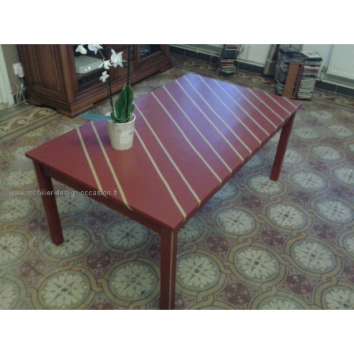 """""""Opéra"""" table basse rouge et or,Fabyra(1)"""