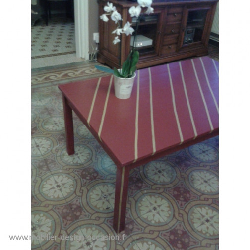 """""""Opéra"""" table basse rouge et or,Fabyra(4)"""