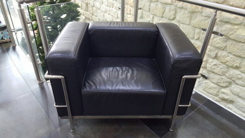 Fauteuil cuir LC3