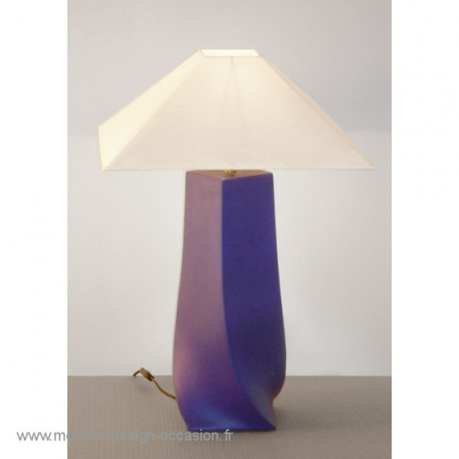 Lampe faïence contemporaine,FDC,Yvon Boudry