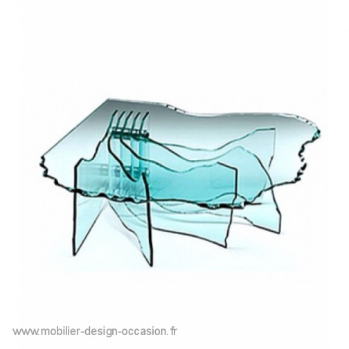 Désigner italien Fiam table basse shell