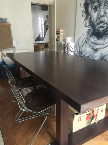 Grande table rectangulaire en wenge