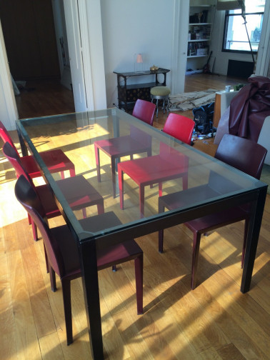 Lorana table christal,Poltrona Frau(1)