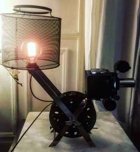 Lampe de salon industrielle