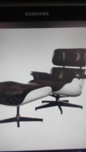 Fauteuil Eames et ottoman ,Charles & Ray Eames