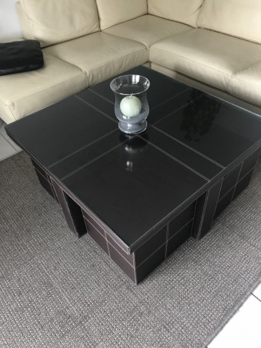 Table basse + poufs