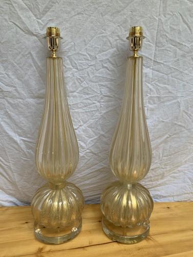 Paire de lampe - Toso,Murano,Toso
