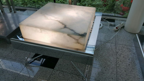 Fontaine table basse lumineuse