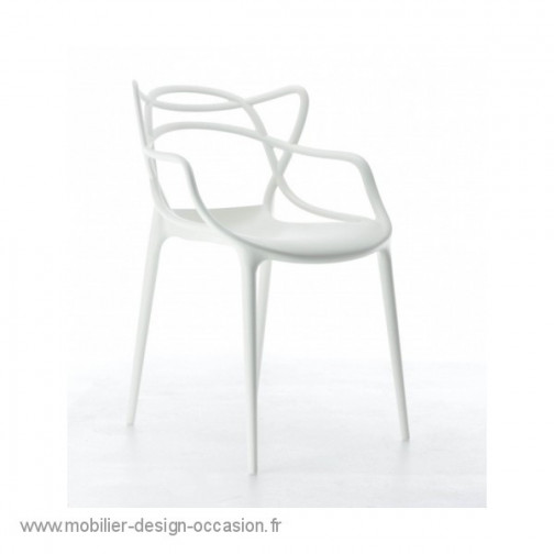 lot de 4 Chaises Masters Kartell blanches,KARTELL,Philippe STARCK(1)