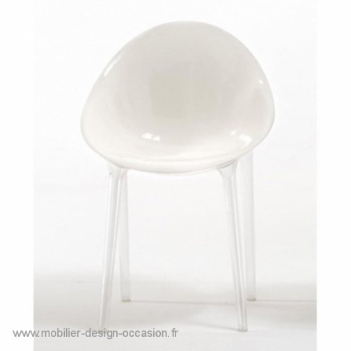 Lot de deux Fauteuils Mr Impossible Blanc opaque