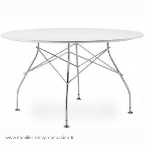 Table Glossy ronde EROS By Phillippe Starck de Kartell