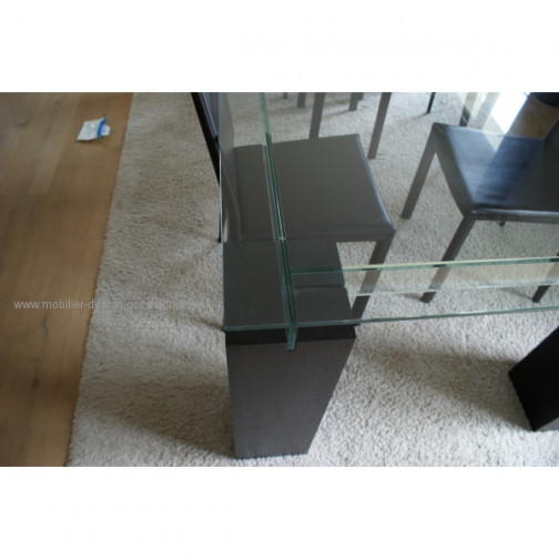 table basse miami hetre et verre noir. Black Bedroom Furniture Sets. Home Design Ideas