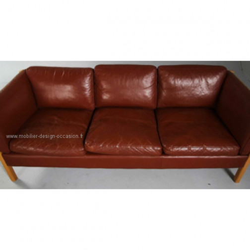 canapé cuir scandinave 3pl,Stouby,Stouby(3)