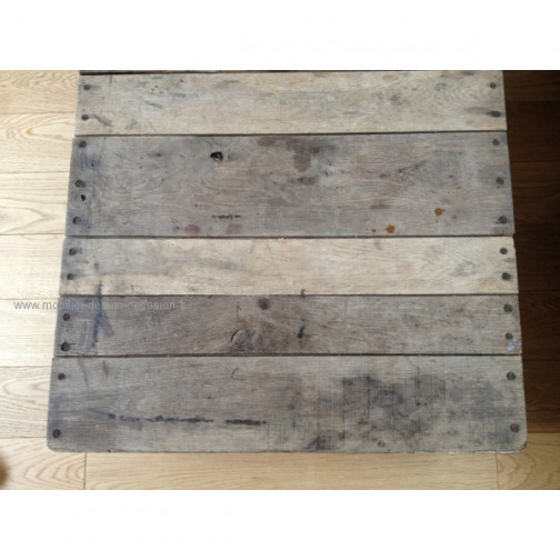 Table basse bois industriel vintage (2)