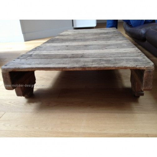 Table basse bois industriel vintage (3)