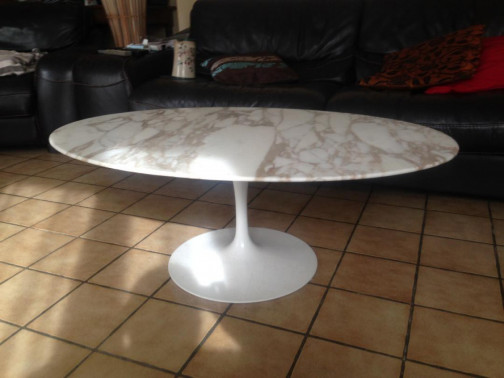 table ovale marbre