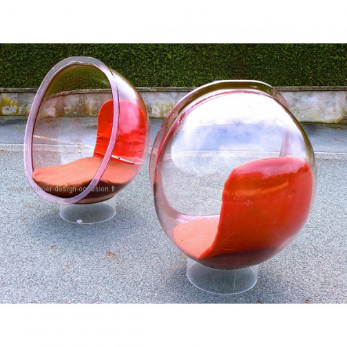 Vintage design 70's. Bubble chair Aarnio Panton(1)